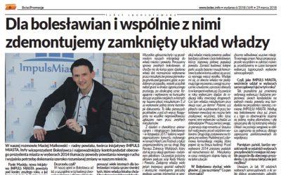 M. Małkowski w gazecie Bolec.info